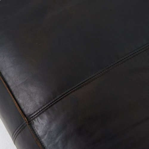"Nolita Reverse Stitch 99"" Sofa-os Black"