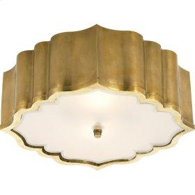 Visual Comfort AH4025NB-FG Alexa Hampton Balthazar 3 Light 14 inch Natural Brass Flush Mount Ceiling Light