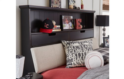Crossroads Complete Upholstered Bookcase Bed, Full 4/6