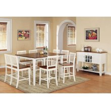 Branson Counter Bench, White/Oak