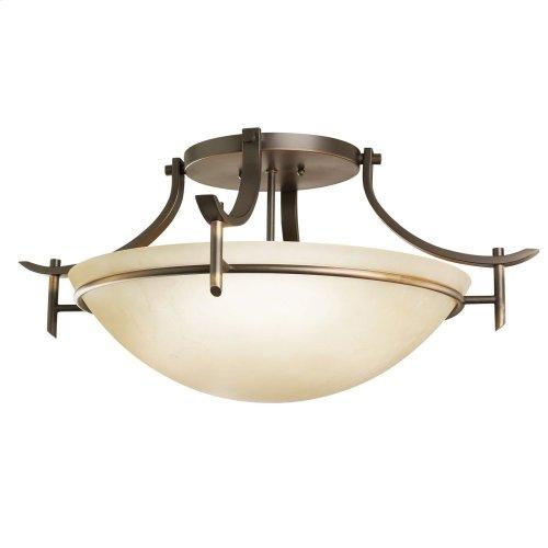 Olympia 3 Light Semi Flush Olde Bronze®