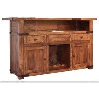 Wooden Bar Base w/Iron footrest Product Image