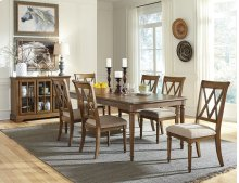 STANDARD 12161-12164 Rossmore Leaf Table With 7 Chairs