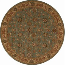 Hard To Find Sizes Grand Parterre Pt01 Blue Round Rug 9' X 9'