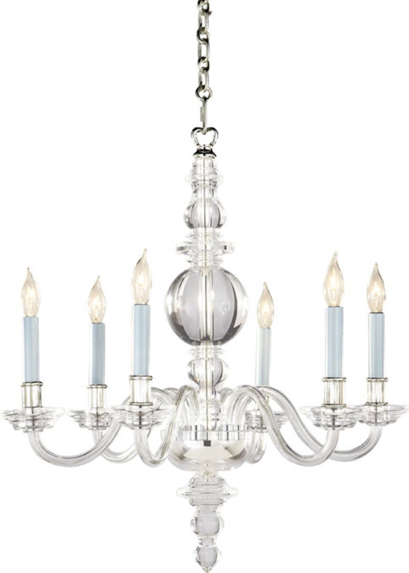 Chc1155cgpn in crystal by visual comfort in norwalk ct visual visual comfort chc1155cgpn e f chapman george ii 6 light 22 inch polished nickel chandelier hidden arubaitofo Image collections