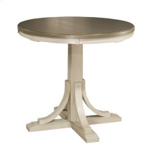 Clarion Round Counter Height Dining Table - Ctn B - Base Only - Sea White