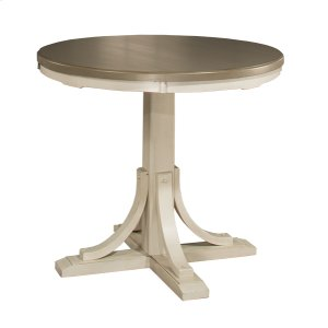 Hillsdale FurnitureClarion Round Counter Height Dining Table - Ctn B - Base Only - Sea White