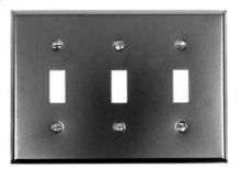 Switch Plate, Three Toggle