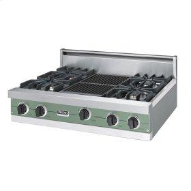 "Mint Julep 36"" Sealed Burner Rangetop - VGRT (36"" wide, four burners 12"" wide char-grill)"