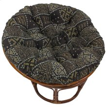 Bali 42-inch Indoor Fabric Rattan Papasan Chair - Walnut/Congo