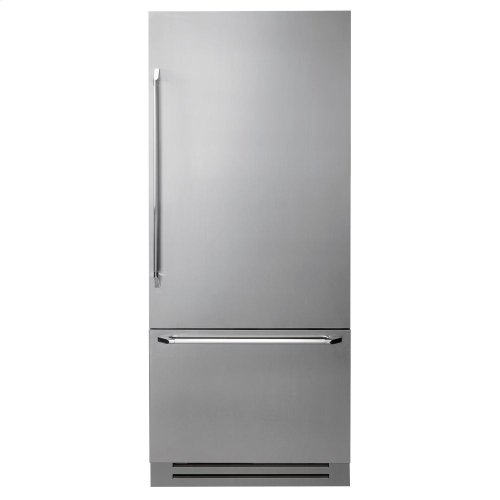 "Discovery 30"" Integrated Bottom Freezer Refrigerator with Bottom Compressor, in Stainless Steel with Epicure Style Handle - Right Hinge"