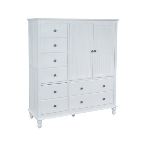 8-Drawer / 2-Door Chest in Beach White
