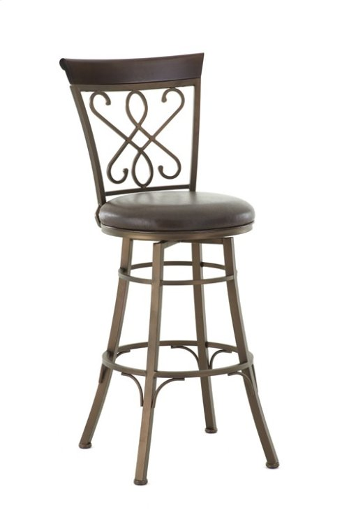 "Carmona Swivel Bar Chair, 19""x17""x48"""