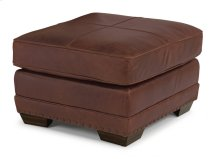 Fulbright Leather Ottoman