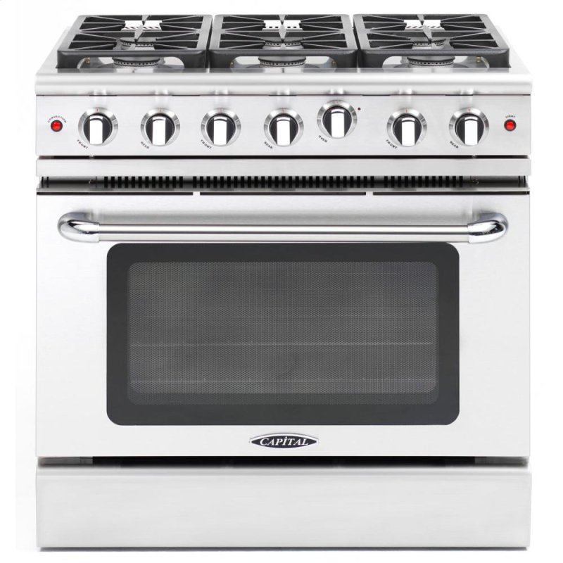 36 Gas Convection Range With 6 Sealed Burners 19k Btu