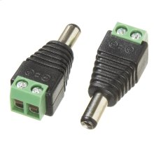 Male Barrel Connector 5.5X2.1MM 12/24v