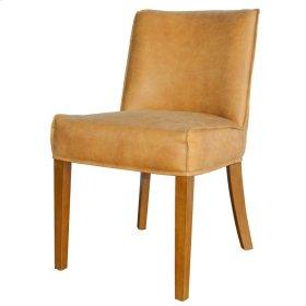 Pierson Bonded Leather Chair Walnut Legs, Vintage Cider