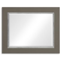 "Slate & Silver ""Homespun"" Mirror"