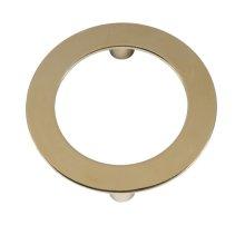 Circular Hardware In Brass Finish.