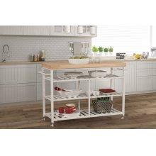 Kennon Kitchen Cart - Natural Wood Top