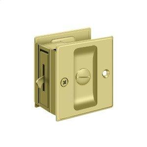 "Pocket Lock, 2 1/2""x 2 3/4"" Privacy - Polished Brass"