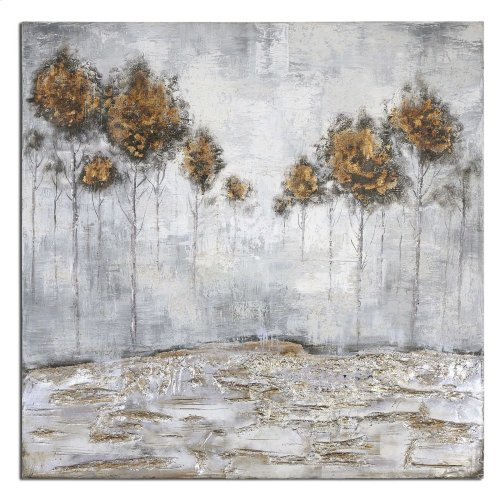 Iced Trees Hand Painted Canvas