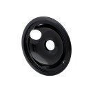 Smart Choice 8'' Black Porcelain Drip Bowl, Fits Specific Product Image