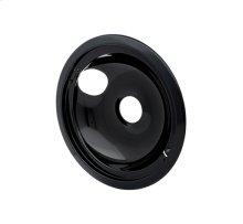 Smart Choice 8'' Black Porcelain Drip Bowl, Fits Specific