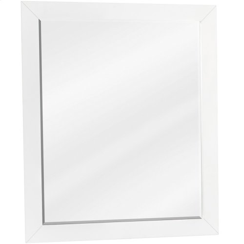 """22"""" x 28"""" White mirror with beveled glass"""