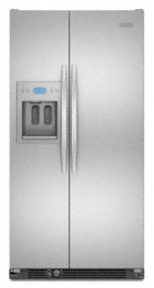 """24.5 Cu. Ft. 35 5/8"""" Width Counter-Depth Side-by-Side Dispensing Freestanding Refrigerator Flat, Smooth Doors Architect® Series II"""