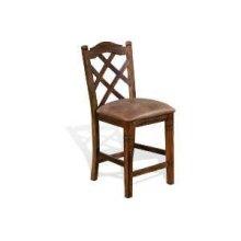"30""H Savannah Double Crossback Barstool w/ Cushion Seat"