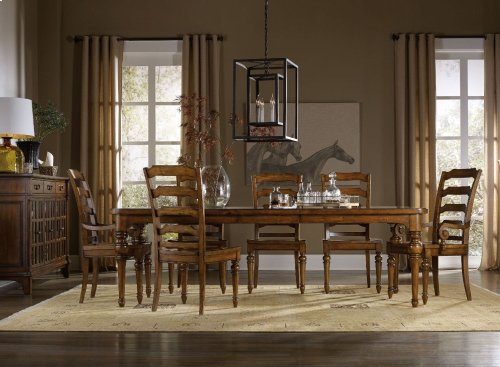"""Tynecastle Rectangle Leg Dining Table with Two 18"""" Leaves"""
