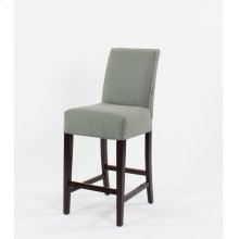 """Straight top barstool with small nails. 30"""" barstools have a seat height of 30"""" when measured"""