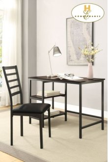 Writing Desk and Chair Table: 42 x 24 x 30H Chair: 17.5 x 21 x 38H