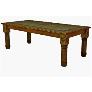 """96"""" x 39"""" x 42"""" Dining Table with Rope,Stone and Star Medio"""