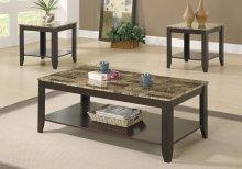 TABLE SET - 3PCS SET / CAPPUCCINO / MARBLE-LOOK TOP