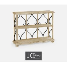 Two-Tier Etagere in Limed Acacia