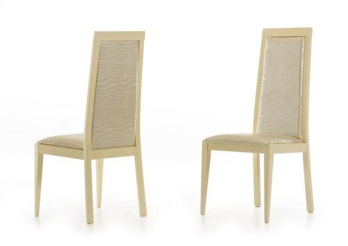 Modrest Ancona Modern Beige Crocodile Eco-Leather Dining Chair (Set of 2)