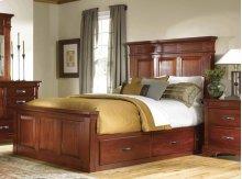 E King Mantel Bed W/storage