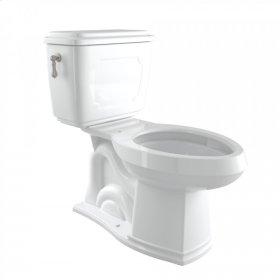 Satin Nickel Perrin & Rowe Victorian 1.6 GPF Elongated Close Coupled Water Closet/Toilet