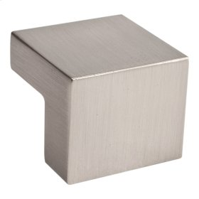 Small Square Knob 5/8 Inch (c-c) - Brushed Nickel
