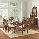 Havana Palm Indoor 7 PC Rattan & Wicker Dining Set with cushions Product Image