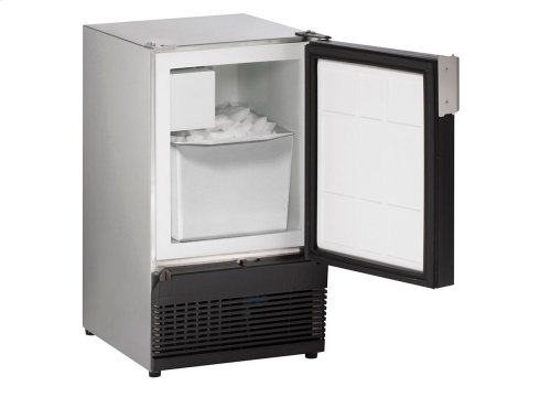 "Marine Series 15"" Marine Crescent Ice Maker With Stainless Solid Finish and Field Reversible (no Flange) Door Swing (220-240 Volts / 50 Hz)"