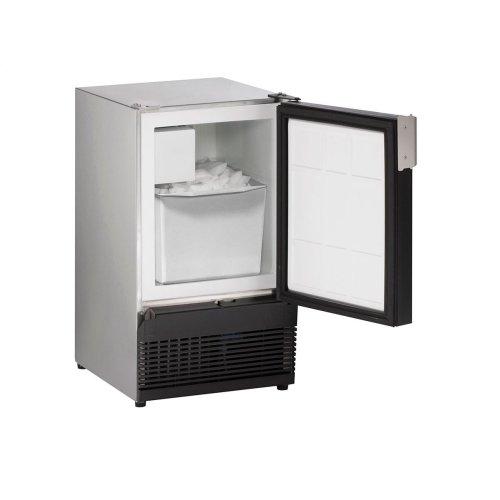 """Marine Series 15"""" Marine Crescent Ice Maker With Stainless Solid Finish and Field Reversible (no Flange) Door Swing (220-240 Volts / 50 Hz)"""