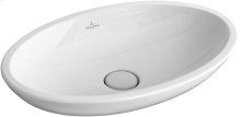 Surface-mounted washbasin (oval) Oval - White Alpin