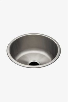 "Kerr 16 7/8"" Round Stainless Steel Undermount Prep Sink with Center Drain STYLE: KRSK01"
