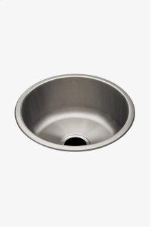 "Kerr 16 7/8"" Round Stainless Steel Undermount Prep Sink with Center Drain STYLE: KRSK01"
