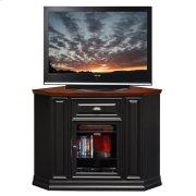 "Black Cherry 46"" Corner TV Console #87232 Product Image"