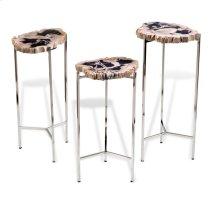 Armani Petrified Wood Drink Tables