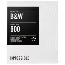 Instant Film PRD2786 for Polaroid 600 Type Cameras (Black/White)